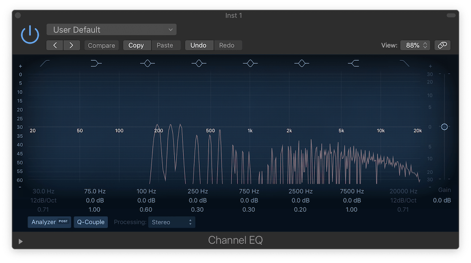 Logic Pro X Channel EQ with Aural Exciter