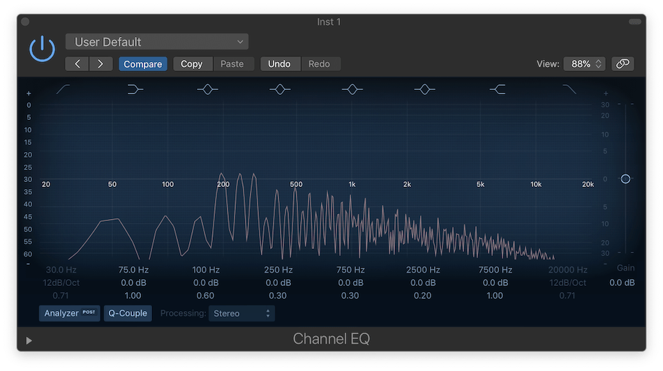 Logic Pro X Channel EQ with iZotope Neutron 2 Exciter