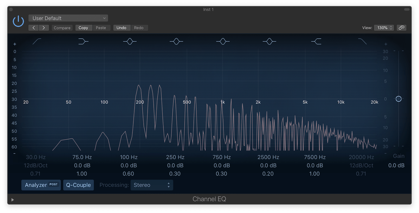 Logic Pro X Channel EQ with Inflator