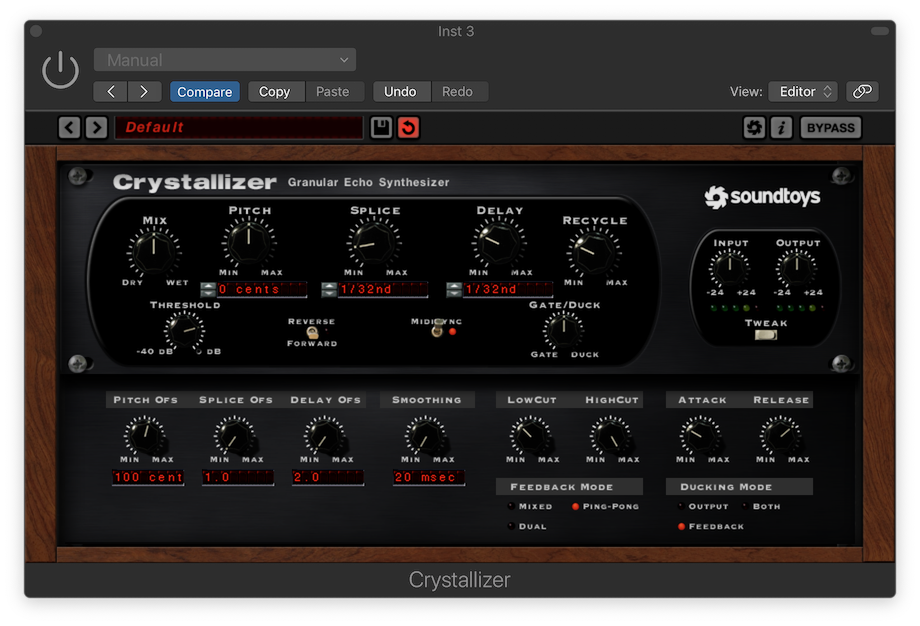 Soundtoys Crystallizer with Ping-Pong Feedback